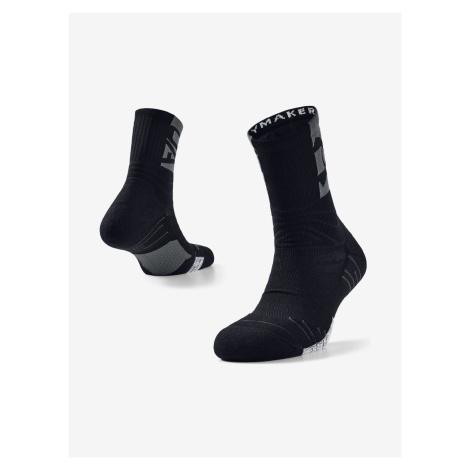 Playmaker Mid-Crew Ponožky Under Armour Čierna