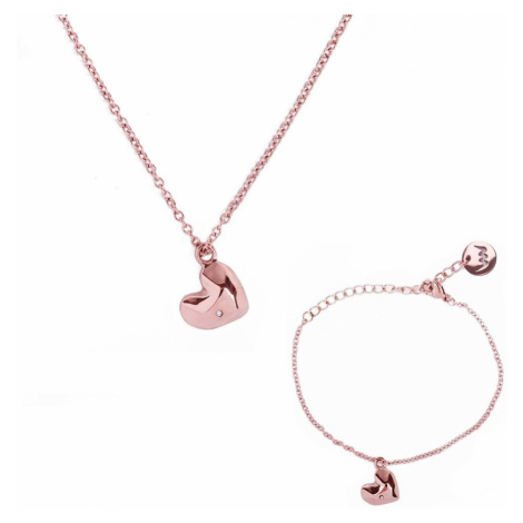 Bracelet and necklace Vuch Passion Gold Couple