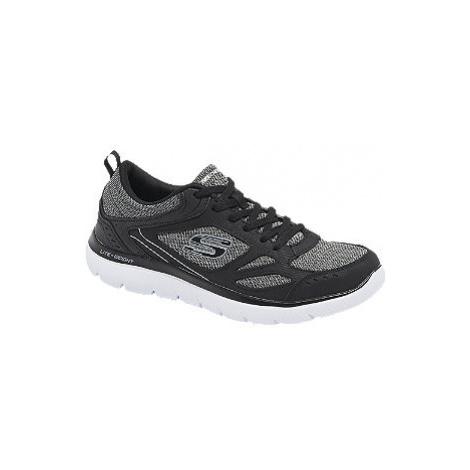 Čierno-sivé tenisky Skechers