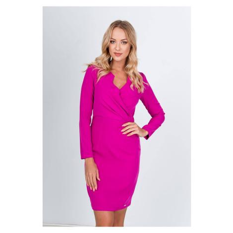Krátke ružové spoločenské šaty