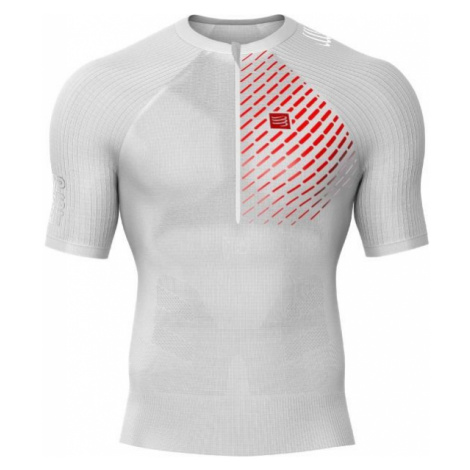 Compressport POSTURAL SS TOP biela - Pánske bežecké tričko