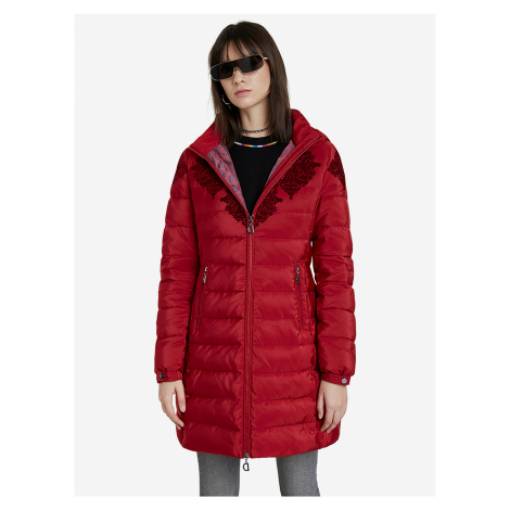Lena Kabát Desigual Červená