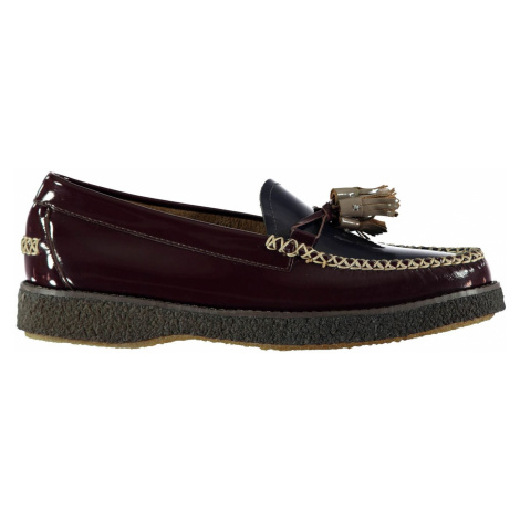 Bass Weejuns Estelle High Shine Loafers Bordo Textured