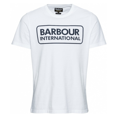 Barbour International Tričko 'Essential Large Logo Tee'  biela