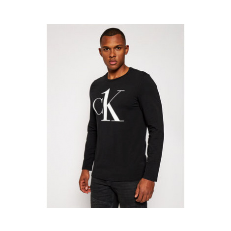 Calvin Klein Underwear S dlhými rukávmi Crew 000NM2017E Čierna Regular Fit