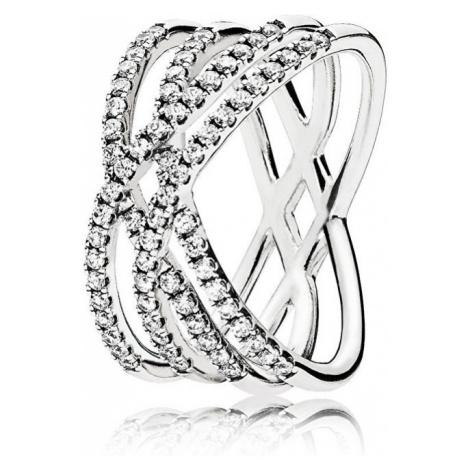 Pandora Oslnivý strieborný prsteň 196401CZ mm