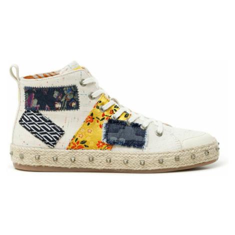 Desigual farebné členkové tenisky Shoes Deia Hight Patch