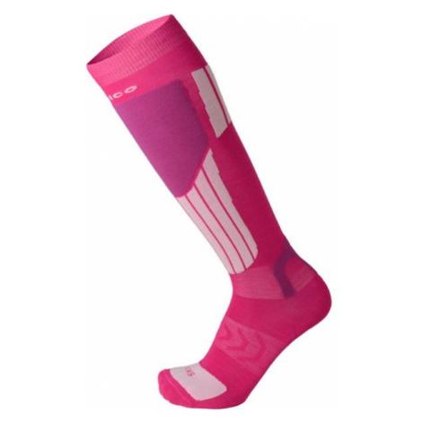 Mico LIGHT WEIGHT NATURAL MERINO SKI SOCKS ružová - Lyžiarske podkolienky