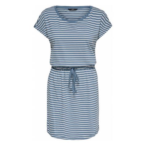ONLY Dámske šaty ONLMAY Blue Mirage THIN STRIPE CLOUD DANCER