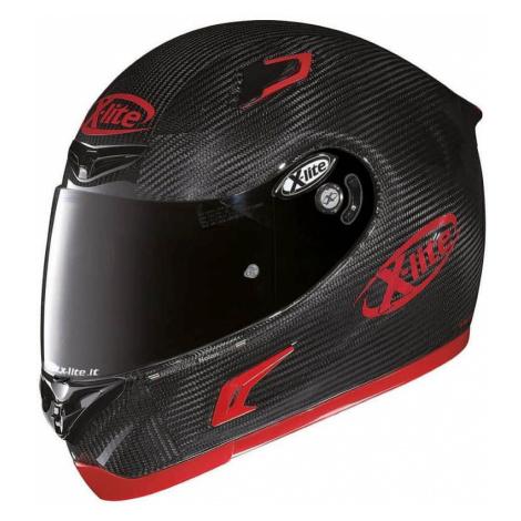 Moto helma X-Lite X-802RR Puro Sport Carbon Farba čierno-červená