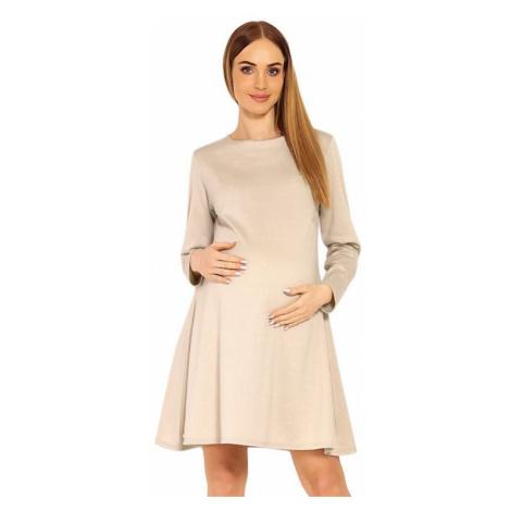 Béžové tehotenské sukne a šaty
