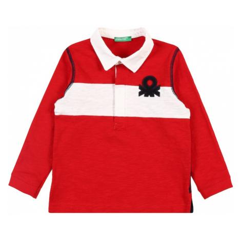 UNITED COLORS OF BENETTON Tričko  červená / biela / námornícka modrá
