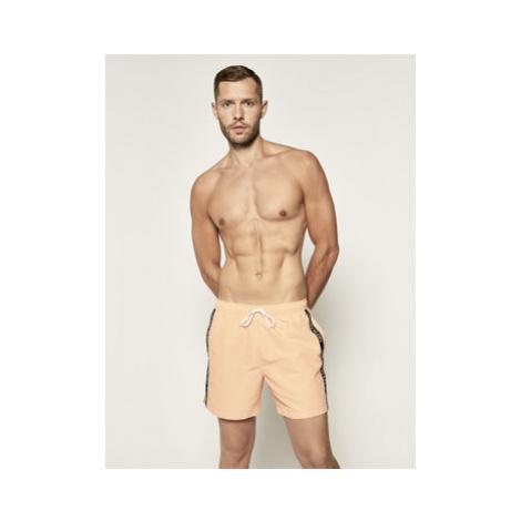 Calvin Klein Swimwear Plavecké šortky KM0KM00434 Oranžová Regular Fit