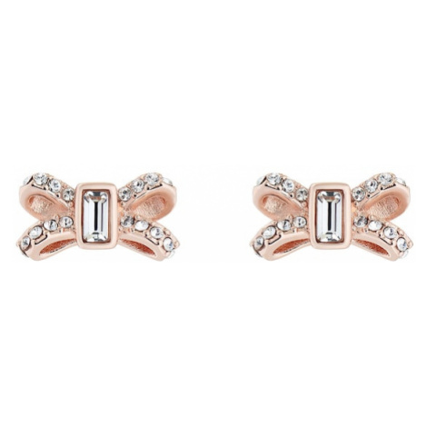 Ted Baker Náušnice 'Crystal Sparkle Bow Stud'  zlatá / strieborná