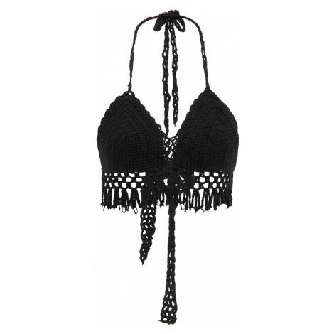 MYMO Vyšívaný top  čierna