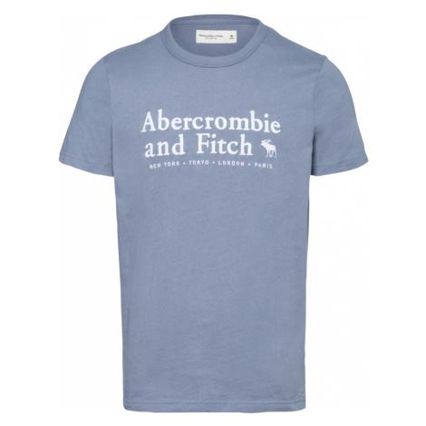 Abercrombie & Fitch Tričko 'ELEVATED'  dymovo modrá / biela