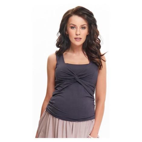 Tehotenský a dojčiaci top Zoja tmavo sivý