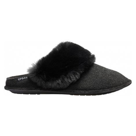 Crocs Dámske šľapky Clasic Luxe Slipper Black 205394-001 39-40