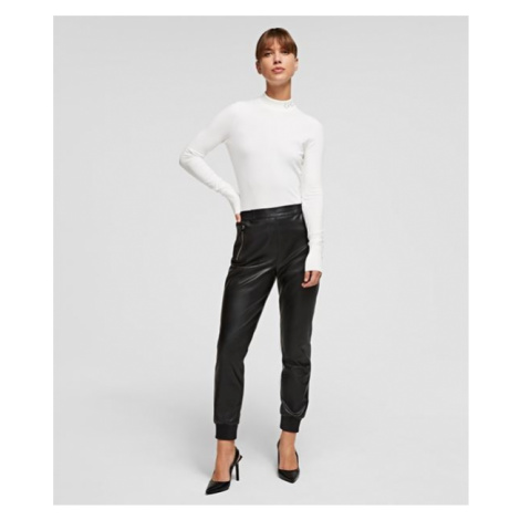 Nohavice Karl Lagerfeld Faux Leather Joggers