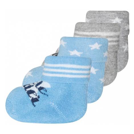 EWERS Ponožky 'Little wonder'  sivá / svetlomodrá