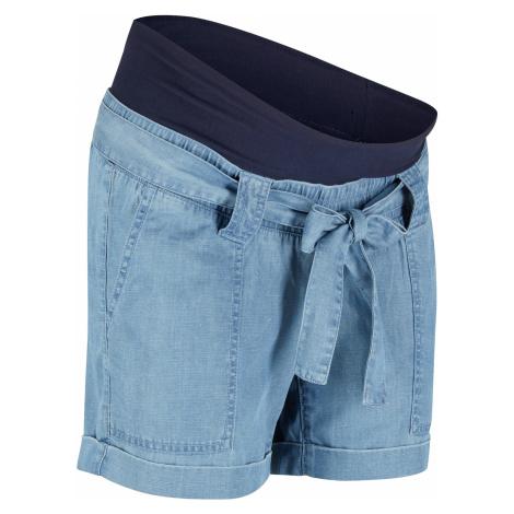 Materské plátené šortky v džínsovom vzhľade bonprix