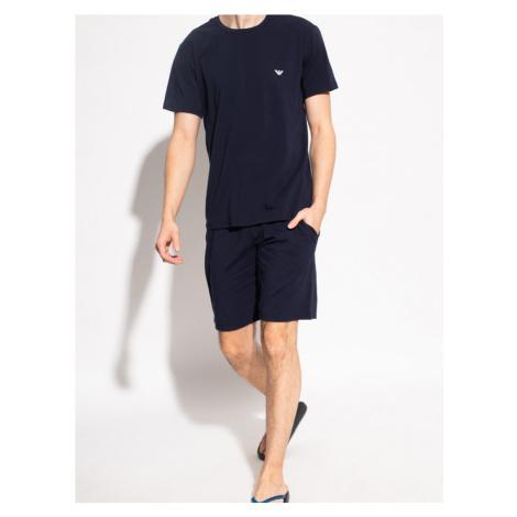 Pánske pyžamo 111573 1P720 27435 tmavo modré - EMPORO Armani