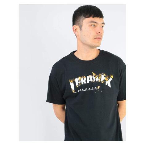 Pánske tričko Thrasher INTRO BURNER čierne Farba: Čierna