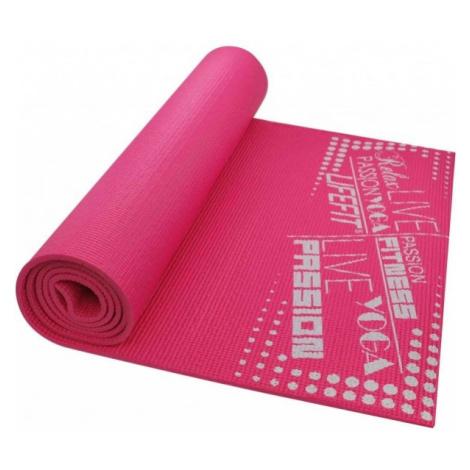 SPORT TEAM LIFEFIT SLIMFIT ružová - Gymnastická podložka