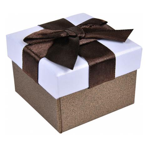 JK Box Hnedá krabička na náušnice alebo prsteň AP-2 / A21 JKbox