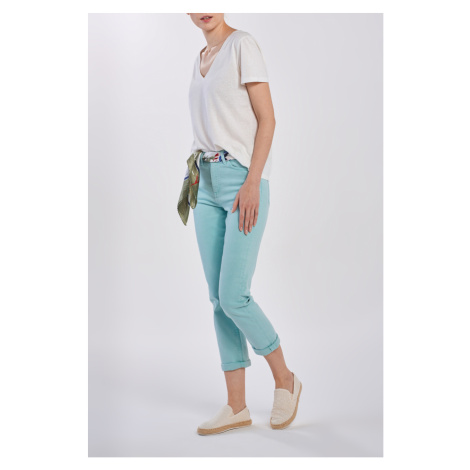 DŽÍNSY GANT D1. HW SLIM CROPPED COLOUR JEANS
