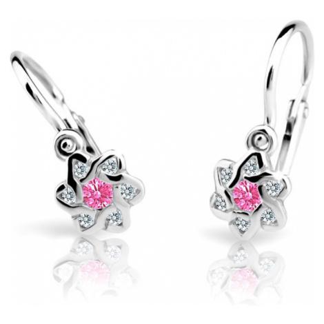Cutie Jewellery Detské náušnice C2149-10-X-2 čirá