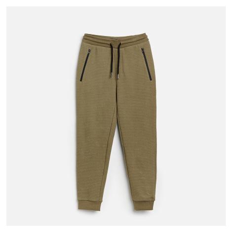 Reserved - Úpletové nohavice - Zelená