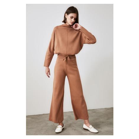 Trendyol Camel Knitwear Bottom-Top Suit