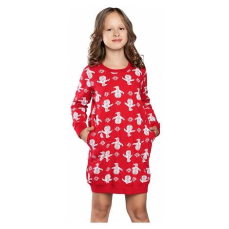 Dievčenská nočná košieľka Malika červená Italian Fashion