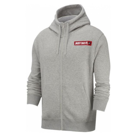 Nike NSW HOODIE FZ FLC BSTR M sivá - Pánska mikina