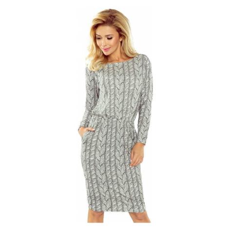 Sivé úpletové šaty Elgia v172-1