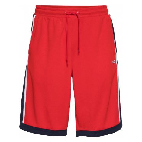 Tommy Jeans Nohavice  červená / námornícka modrá / biela Tommy Hilfiger