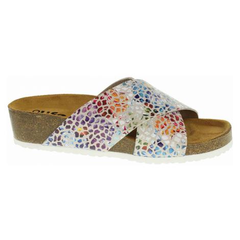 Dámské pantofle Bio Life 1484.86 Roxana beige-multi 1484.86
