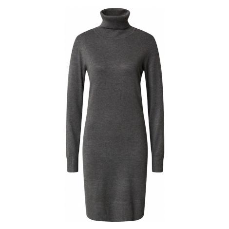 SAINT TROPEZ Pletené šaty 'Mila'  tmavosivá