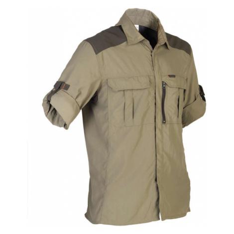 SOLOGNAC Košeľa 520 Dlhý Rukáv Kaki