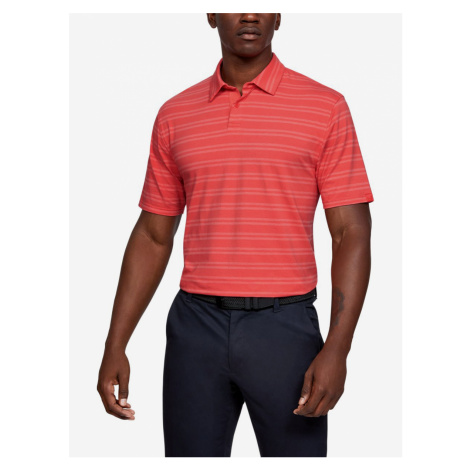 Charged Cotton® Scramble Polo triko Under Armour Červená