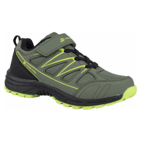 ALPINE PRO AVIORE zelená - Detská outdoorová obuv