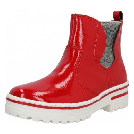 RIEKER Nízke čižmy  červená / biela