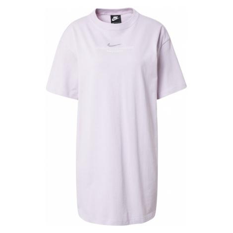 Nike Sportswear Šaty  pastelovo fialová / biela / strieborná