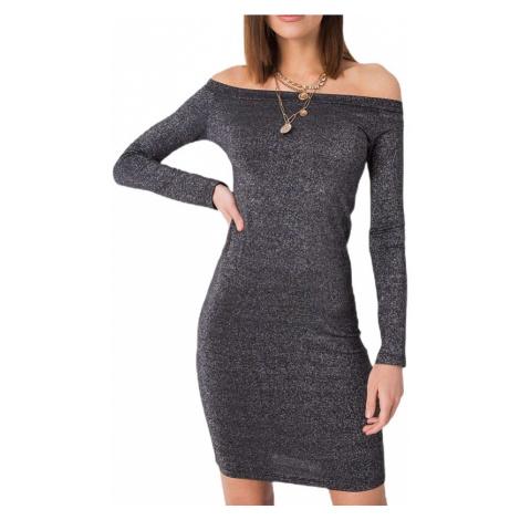 Strieborné dámske priliehavé mini šaty Rue Paris