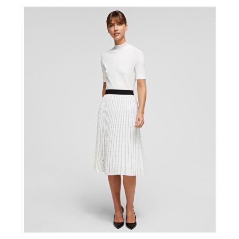 Sukňa Karl Lagerfeld Pleated Skirt W/ Logo
