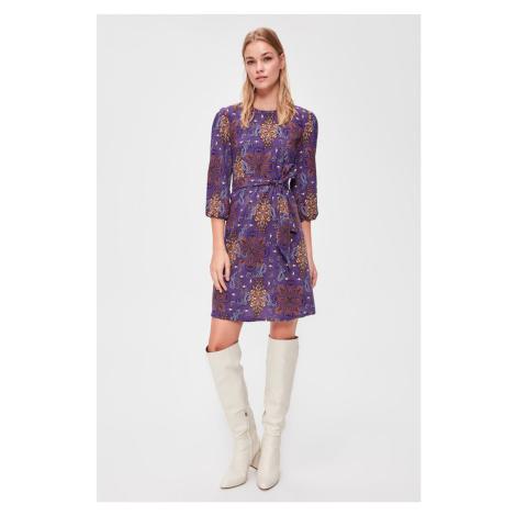 Trendyol Purple Binding Detailed Dress Purple