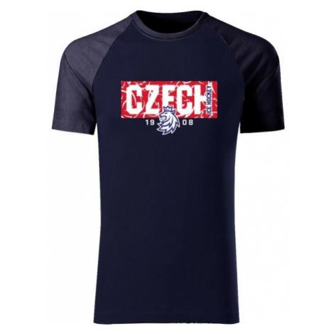 Střída CZECH V PATTERNU tmavo modrá - Pánske tričko