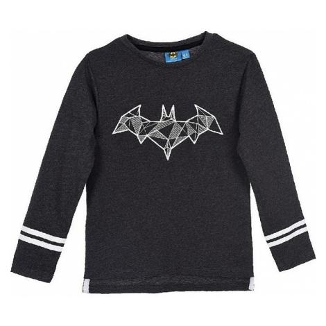 Batman tmavo sivé chlapčenské tričko s dlhým rukávom