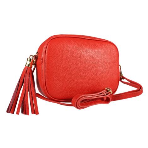 Talianská kožená kabelka Bala Rossa Corallo
